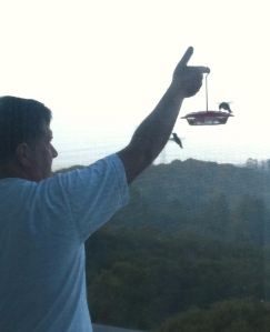 Steve Feeds the Hummers